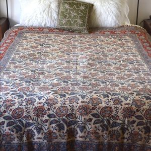 Other - Vintage Bohemian Printed Throw/ Bedspread